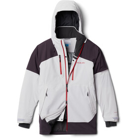 Columbia Wild Card Chaqueta Hombre, nimbus grey/dark purple